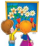 Childhood 012. Children's illustration Royalty Free Stock Image