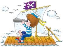 Childhood 018. Children's illustration Stock Photo