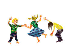 Childhood. Illustration about childhood with child, play, game Royalty Free Stock Photography