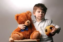 Childhood 9. A child with a toys Royalty Free Stock Photography