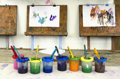 Childhood - Art royalty free stock photos