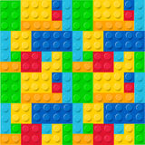 Childhood blocks pattern vector Royalty Free Stock Photo