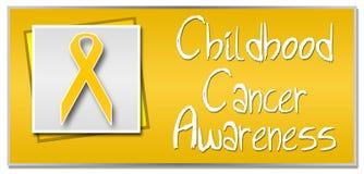 Childhood Cancer Awareness. Conceptual image for childhood cancer awareness with golden ribbon Stock Image