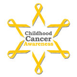 Childhood Cancer Awareness Ribbon Circle Royalty Free Stock Photo
