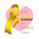 Childhood cancer ribbon Stock Photography