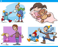 Childhood cartoon set Royalty Free Stock Photos