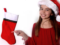 Childhood Christmas stock image