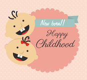 Childhood design Royalty Free Stock Images