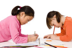 Childhood Drawing stock photography