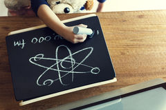 Childhood Drawing Kindergarten Knowledge Skill Concept Stock Image