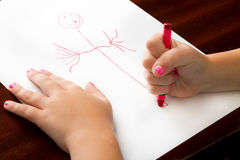 Childhood drawing at it's finest Royalty Free Stock Photography