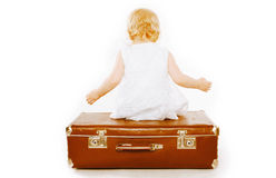 Childhood, family travel and people concept - little child Royalty Free Stock Images