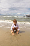 Childhood - fun on the beach Royalty Free Stock Photos