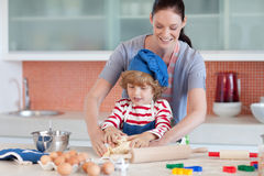 Childhood fun in the kitchen Royalty Free Stock Image