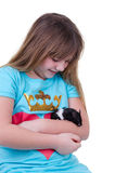 Childhood with hamster Stock Photography