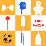 Childhood. Icon Set Royalty Free Stock Photos