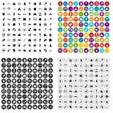 100 childhood icons set vector variant. 100 childhood icons set vector in 4 variant for any web design isolated on white Stock Photography