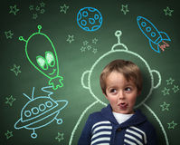 Childhood Imagination And Dreams Stock Photography