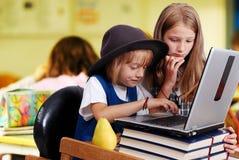 Childhood, laptop Stock Image