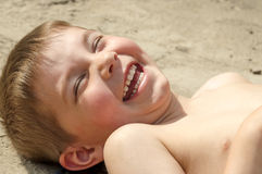 Childhood laughter Stock Photography