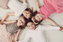 Childhood. And lifestyle. Kids at home Royalty Free Stock Photos