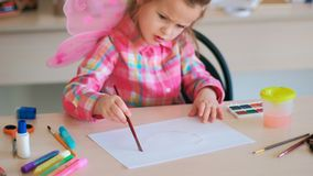 Childhood moments drawing hobby leisure Royalty Free Stock Photos