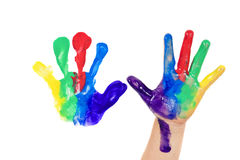Childhood Painting Royalty Free Stock Photo