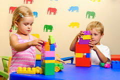 Childhood playtime stock photo