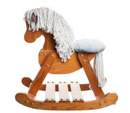Childhood Rocking Horse Stock Photo