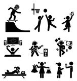 Childhood  set. Pictogram icon set. Royalty Free Stock Image