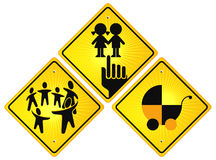 Childhood sign. Children prohibited sign Royalty Free Stock Images