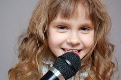 Childhood singing Royalty Free Stock Photo