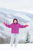 Childhood on snow Royalty Free Stock Photos