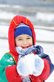 Childhood on snow Royalty Free Stock Photo