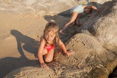 Childhood Summer Travel Beach Royalty Free Stock Images