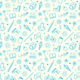 Childhood theme doodle seamless pattern Stock Image