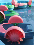 Childhood time. The warm summer sun shines on the toys in the playground stock photography
