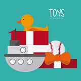 Childhood and Toys design. Childhood concept with toys design, vector illustration 10 eps graphic Royalty Free Stock Photo