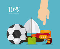Childhood and Toys design. Childhood concept with toys design, vector illustration 10 eps graphic Royalty Free Stock Photos