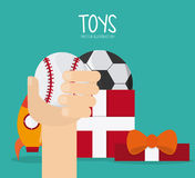 Childhood and Toys design Royalty Free Stock Photo