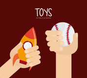 Childhood and Toys design. Childhood concept with toys design, vector illustration 10 eps graphic Royalty Free Stock Image