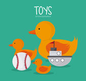 Childhood and Toys design Royalty Free Stock Photos