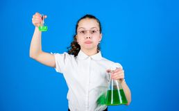 Childhood and upbringing. Knowledge and information. Experimenting a bit. Small kid study. Education concept. Chemistry. Fun. Basic knowledge. Knowledge day royalty free stock images