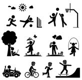 Childhood vector set. Stock Photos