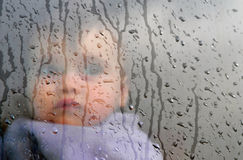 Childhood  - Winter Rain Storm Royalty Free Stock Photography