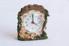 Childish Alarm Clock frontal side. royalty free stock photo