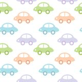 Childish background with cars for baby boy Stock Photography