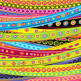Childish background with stripes and doodle geometrical shapes. Childish background with colored stripes and doodle geometrical shapes Royalty Free Stock Photos