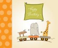 Childish birthday card Royalty Free Stock Photography