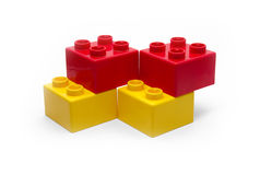 Childish blocks. Color childish blocks to the building Stock Photography